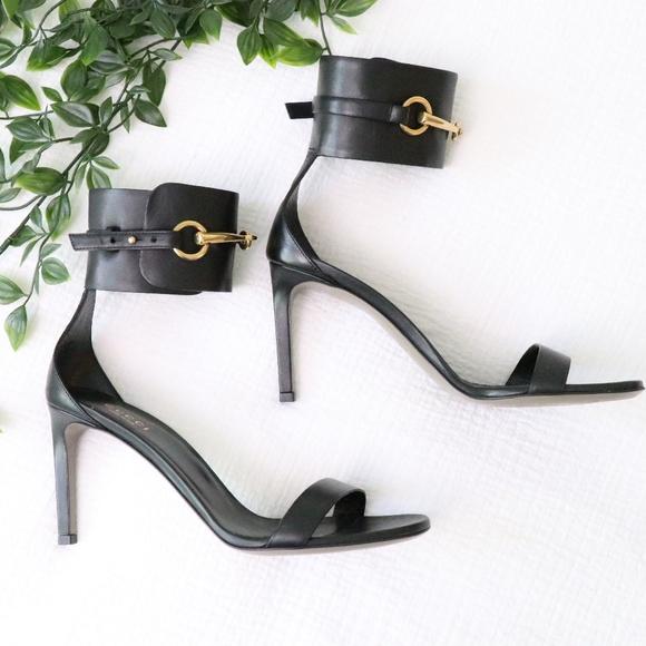 Gucci Shoes - Gucci Lifford Black Cuff Heels 7.5